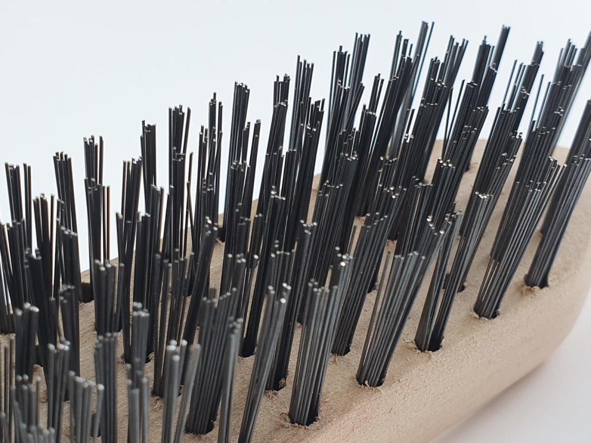 3tlg Holzbürste Drahtbürste Set 4 5 6 reihig Stahlbürste