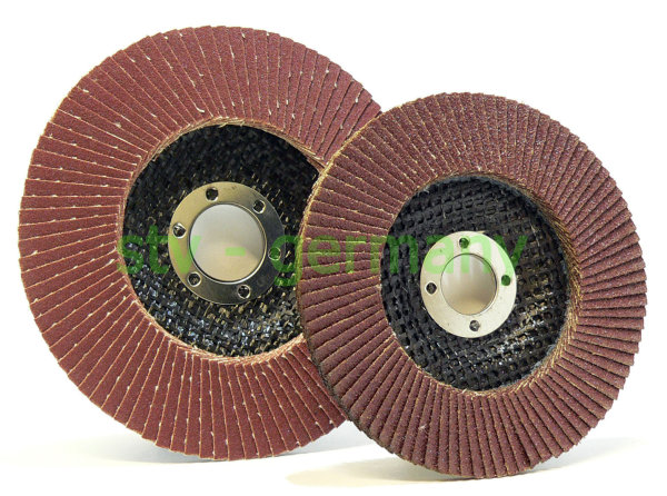 Fächerscheiben 100 x 16 mm / 125 x 22 mm Winkelschleifer Schleifscheiben