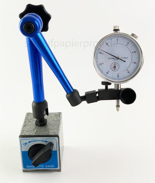Magnet Messstativ mit Messuhr Zentralklemmmung Messuhrhalter