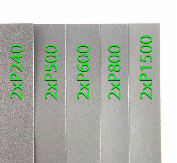 Sortiment SET Schleifpapier 10 Blatt 1500 800 600 500 240 Sand Papier 23x28cm