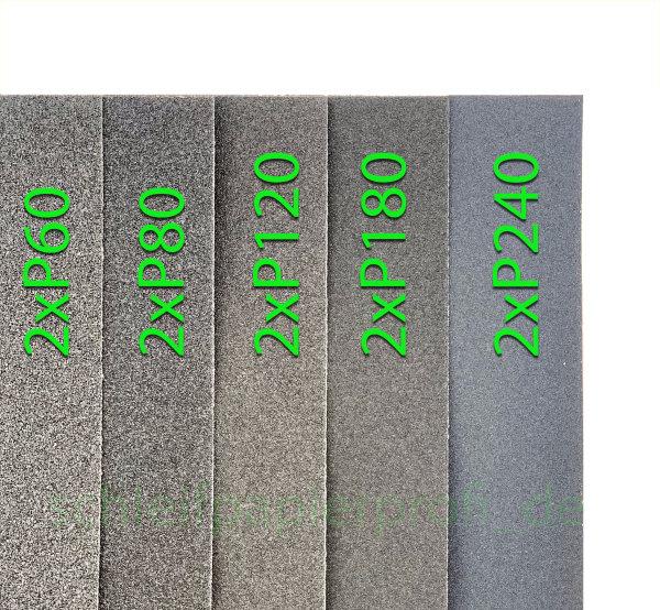 Sortiment SET Schleifpapier 10 Blatt 240 180 120 80 60 Sand Papier 23x28cm