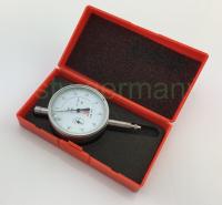 Messuhr / Meßuhr 0-1 mm Analog Metallgehäuse und Toleranzmarken