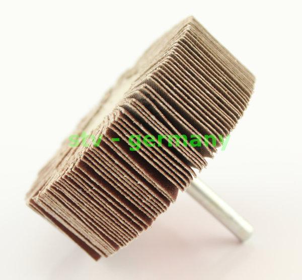 Fächerschleifer Schleifmop Schleifstift verschiedene Ø und Körnungen